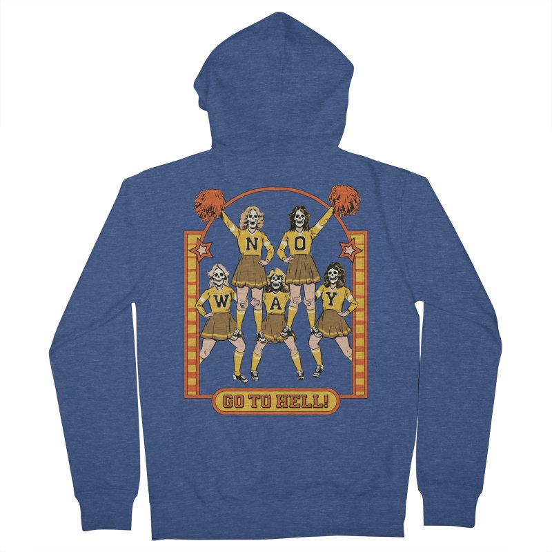 Go To Hell! Men's French Terry Zip-Up Hoody by Steven Rhodes