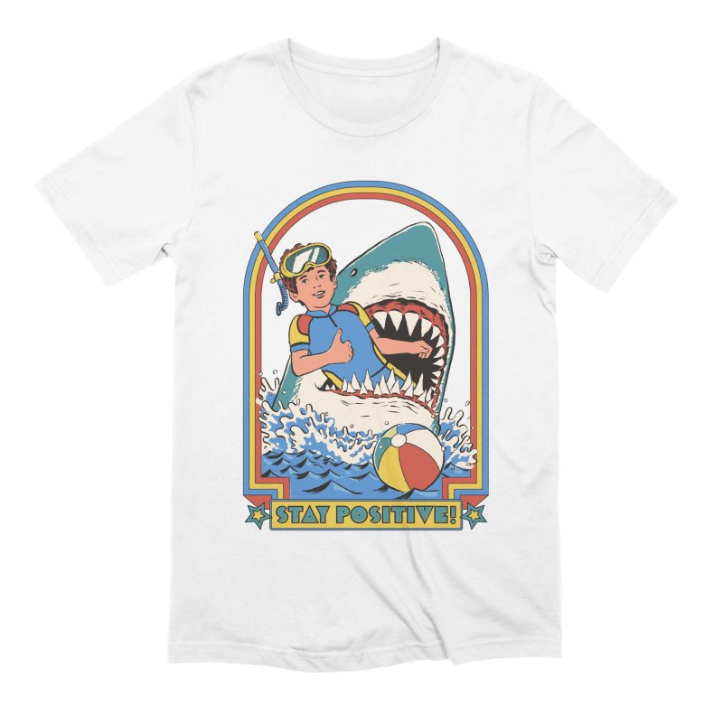 Stay Positive Men's Extra Soft T-Shirt by Steven Rhodes