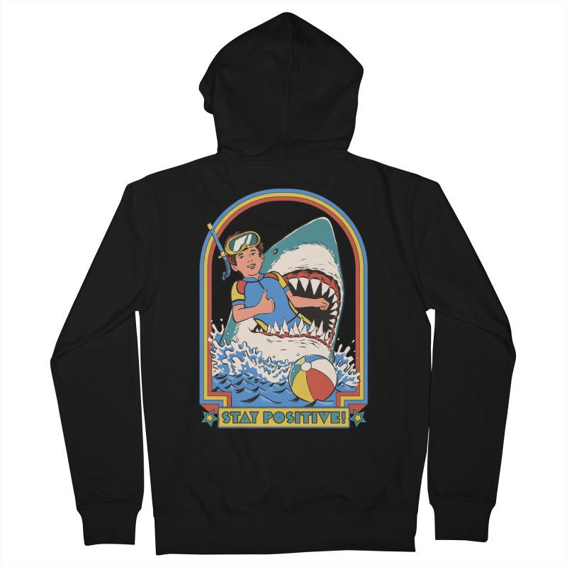 Stay Positive Women's French Terry Zip-Up Hoody by Steven Rhodes