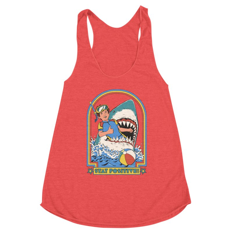 Stay Positive Women's Racerback Triblend Tank by Steven Rhodes