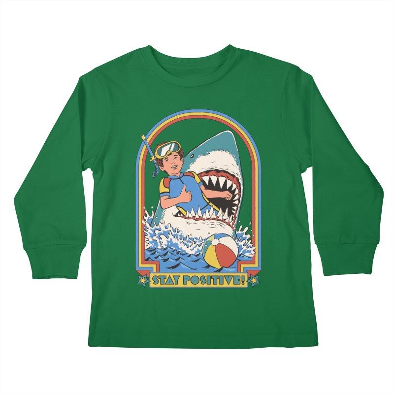 Stay Positive Kids Longsleeve T-Shirt by Steven Rhodes
