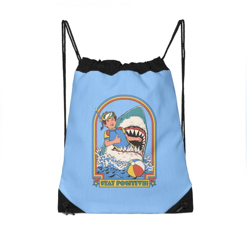 Stay Positive Accessories Drawstring Bag Bag by Steven Rhodes