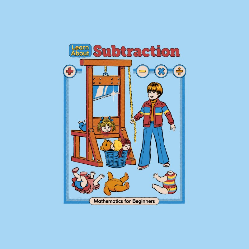 Learn About Subtraction Men's T-Shirt by Steven Rhodes