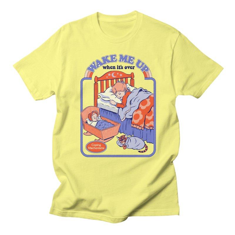 Wake Me Up Men's T-Shirt by Steven Rhodes