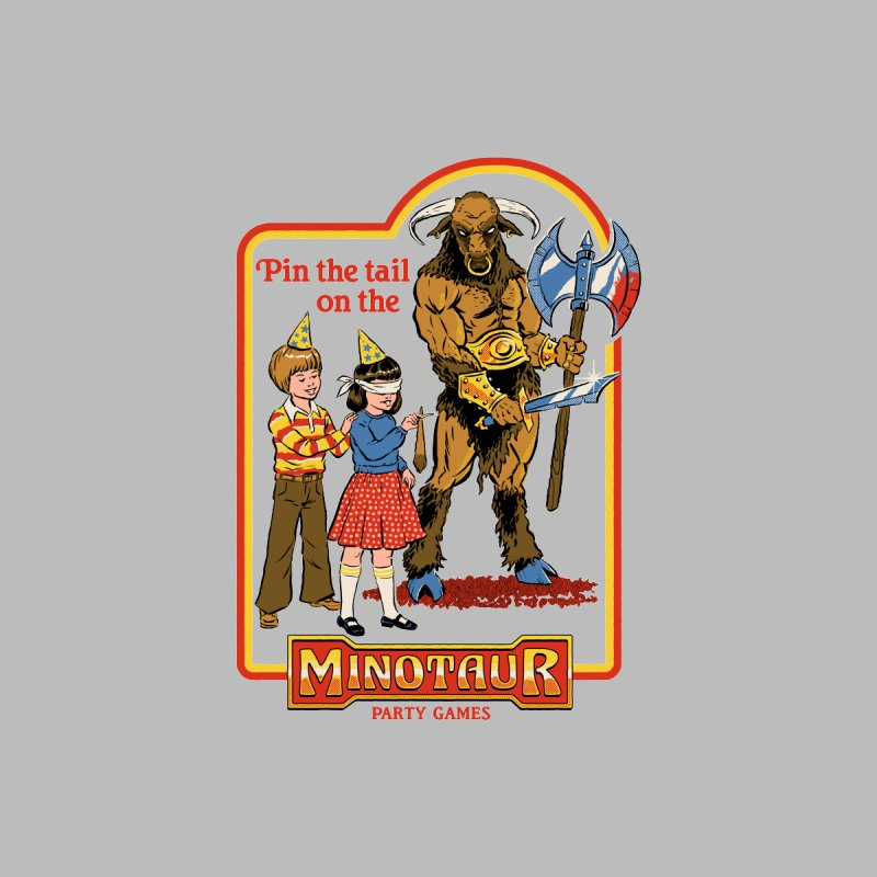 Pin the Tail on the Minotaur Men's T-Shirt by Steven Rhodes