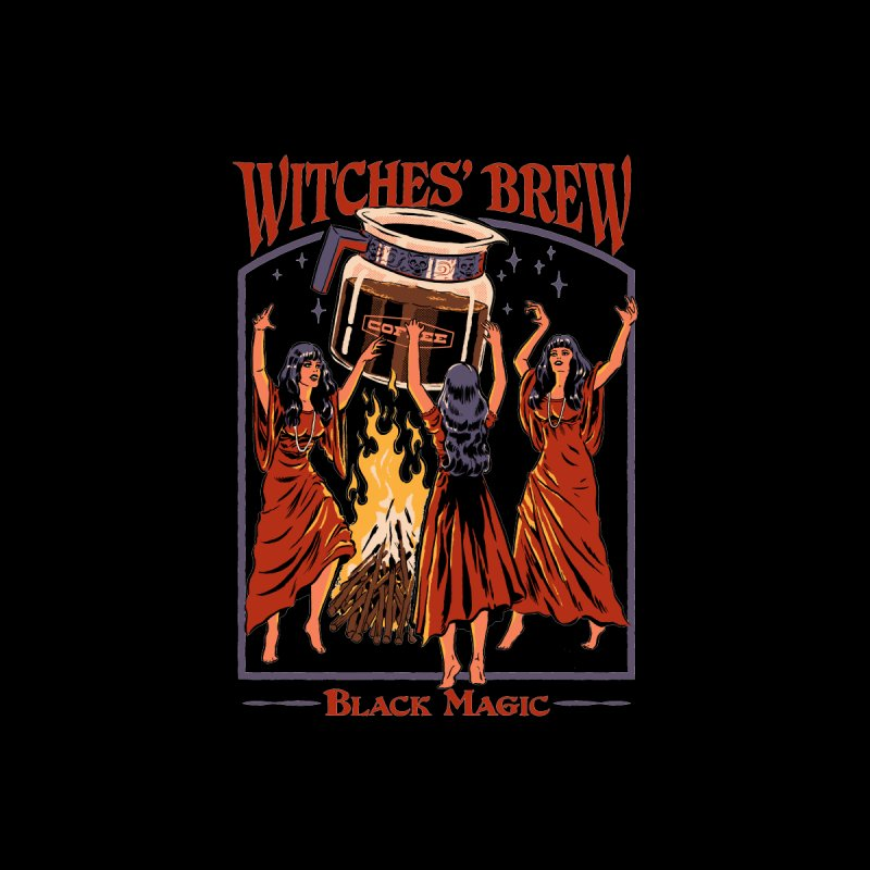 Witches' Brew Men's T-Shirt by Steven Rhodes