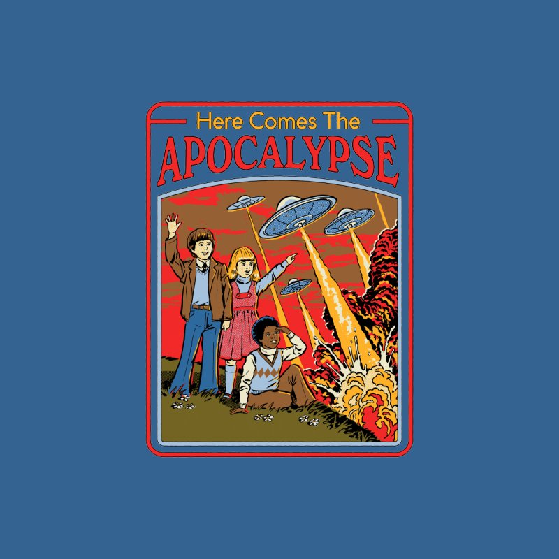 Here Comes The Apocalypse Men's T-Shirt by Steven Rhodes