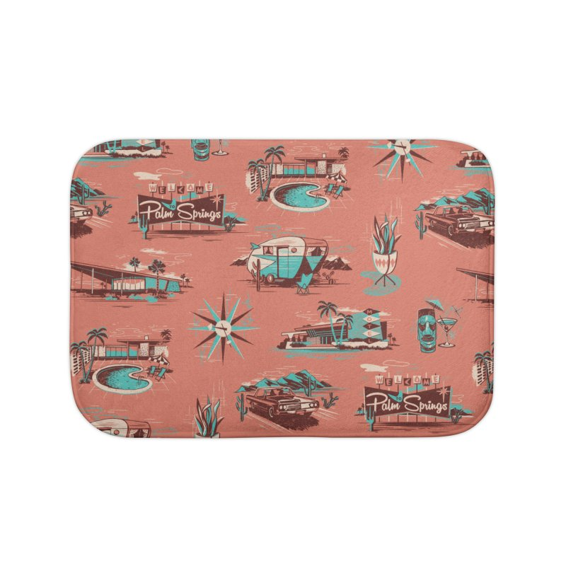 Welcome to Palm Springs Home Bath Mat by Steven Rhodes