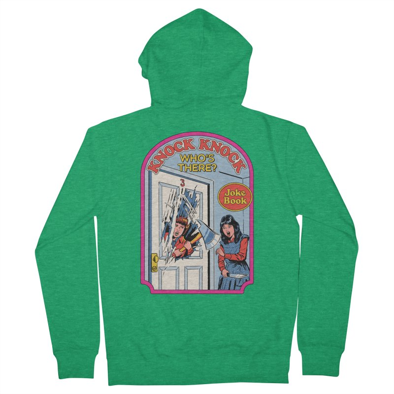 Knock Knock, Who's There? Men's Zip-Up Hoody by Steven Rhodes