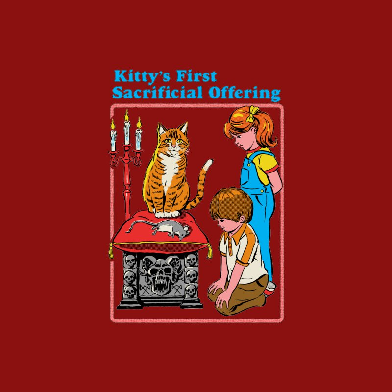 Kitty's First Offering Men's T-Shirt by Steven Rhodes