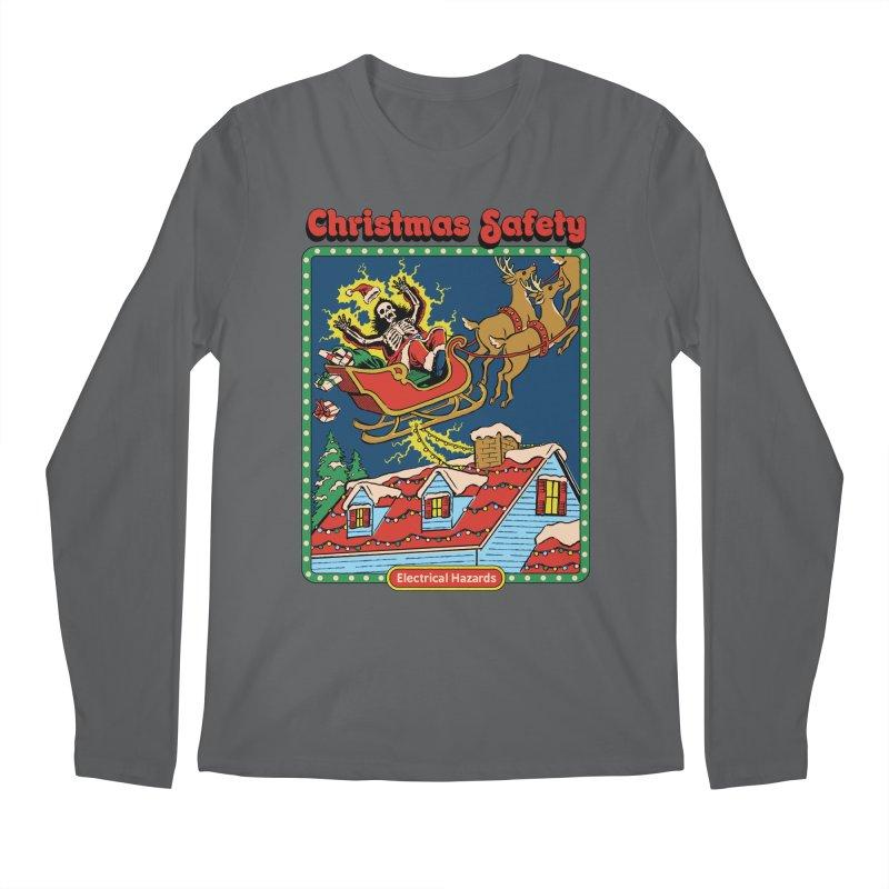 Christmas Safety Men's Longsleeve T-Shirt by Steven Rhodes