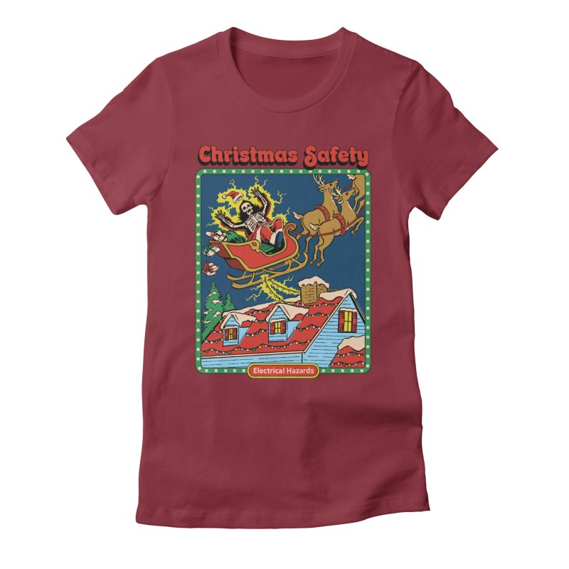 Christmas Safety Women's T-Shirt by Steven Rhodes