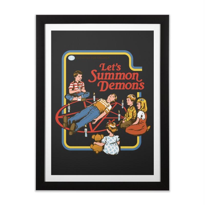 Let's Summon Demons Home Framed Fine Art Print by Steven Rhodes
