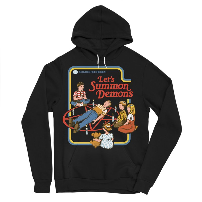 Let's Summon Demons Men's Sponge Fleece Pullover Hoody by Steven Rhodes