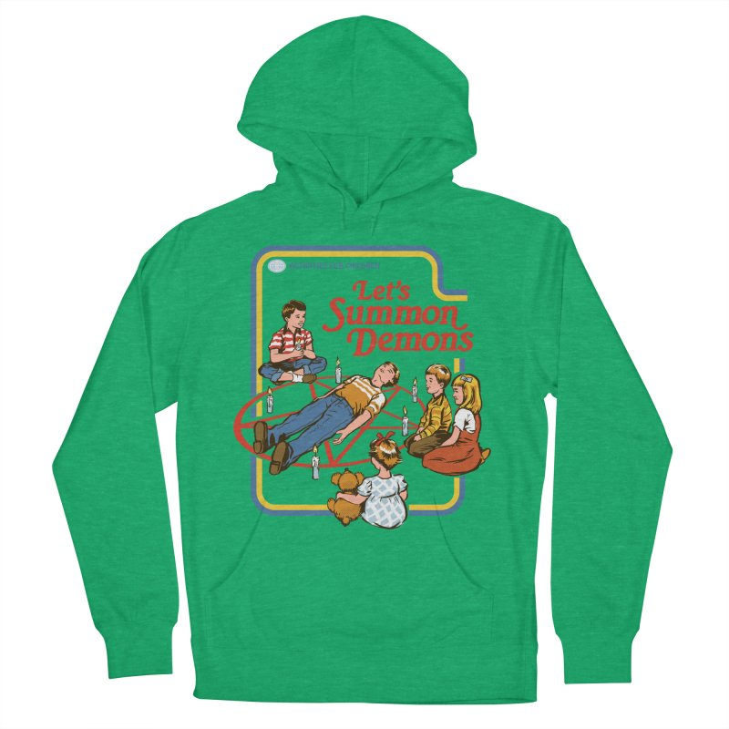 Let's Summon Demons Men's French Terry Pullover Hoody by Steven Rhodes