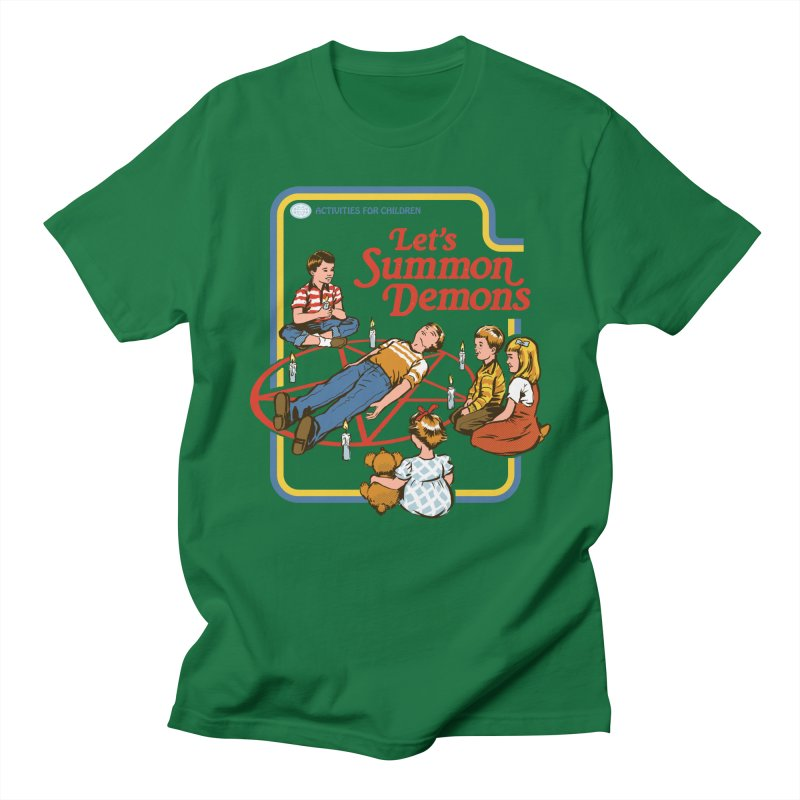 Let's Summon Demons Men's T-Shirt by Steven Rhodes