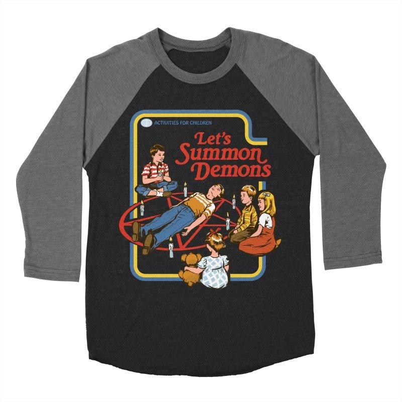 Let's Summon Demons Men's Baseball Triblend T-Shirt by Steven Rhodes