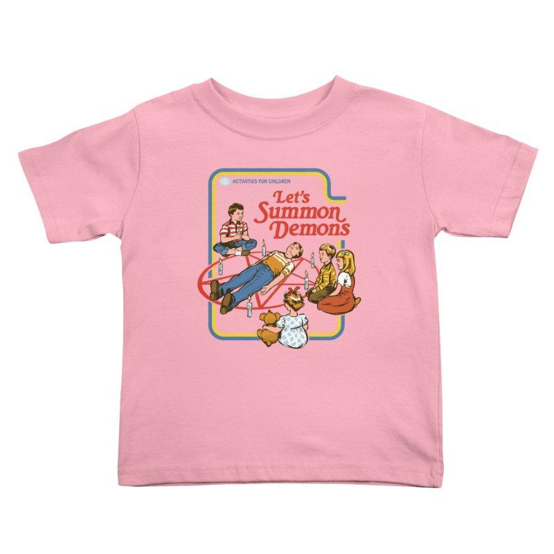 Let's Summon Demons Kids Toddler T-Shirt by Steven Rhodes