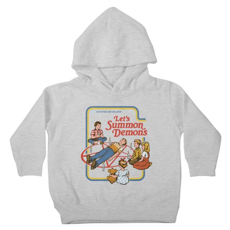 Let's Summon Demons Kids Toddler Pullover Hoody by Steven Rhodes