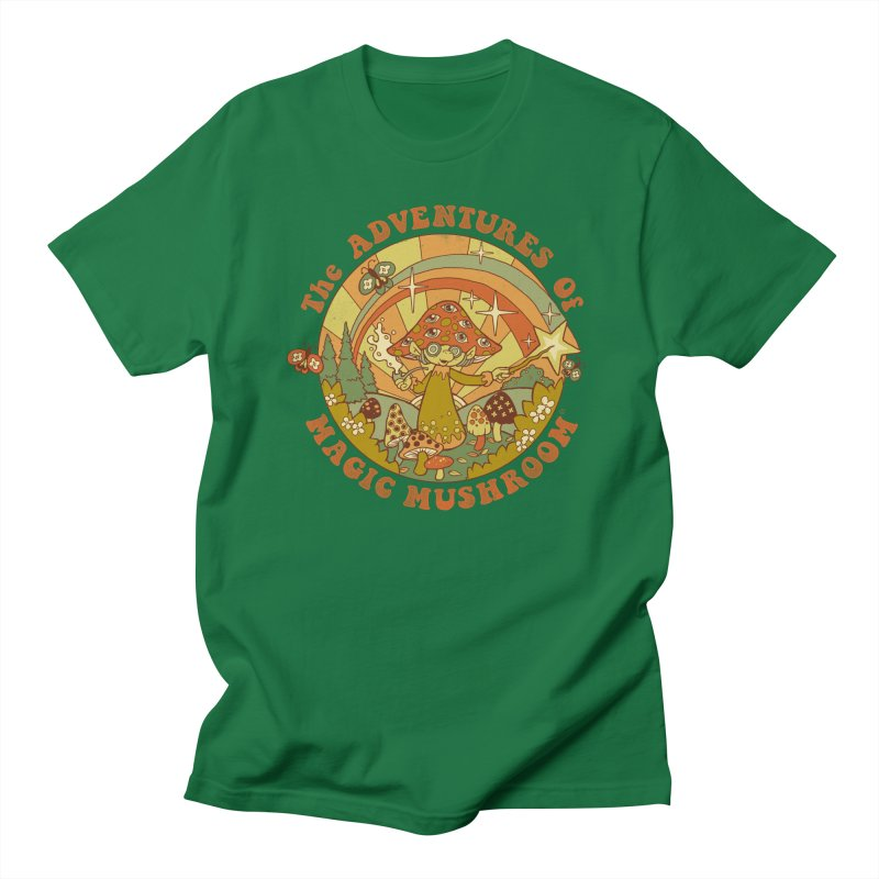 Magic Mushroom Men's T-Shirt by Steven Rhodes
