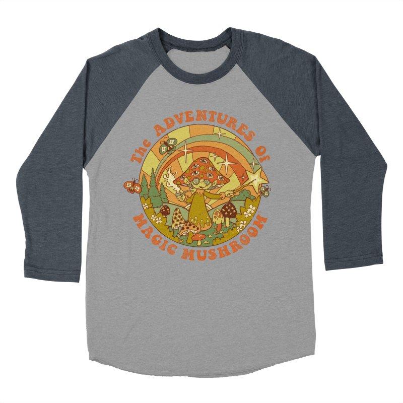 Magic Mushroom Women's Baseball Triblend T-Shirt by Steven Rhodes