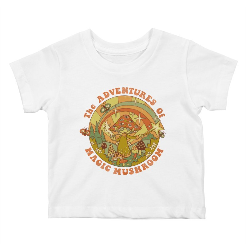 Magic Mushroom Kids Baby T-Shirt by Steven Rhodes