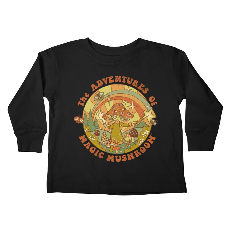 Magic Mushroom Kids Toddler Longsleeve T-Shirt by Steven Rhodes