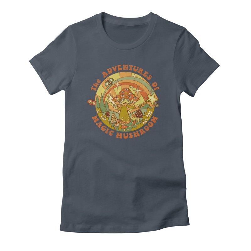 Magic Mushroom Women's T-Shirt by Steven Rhodes