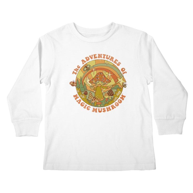 Magic Mushroom Kids Longsleeve T-Shirt by Steven Rhodes