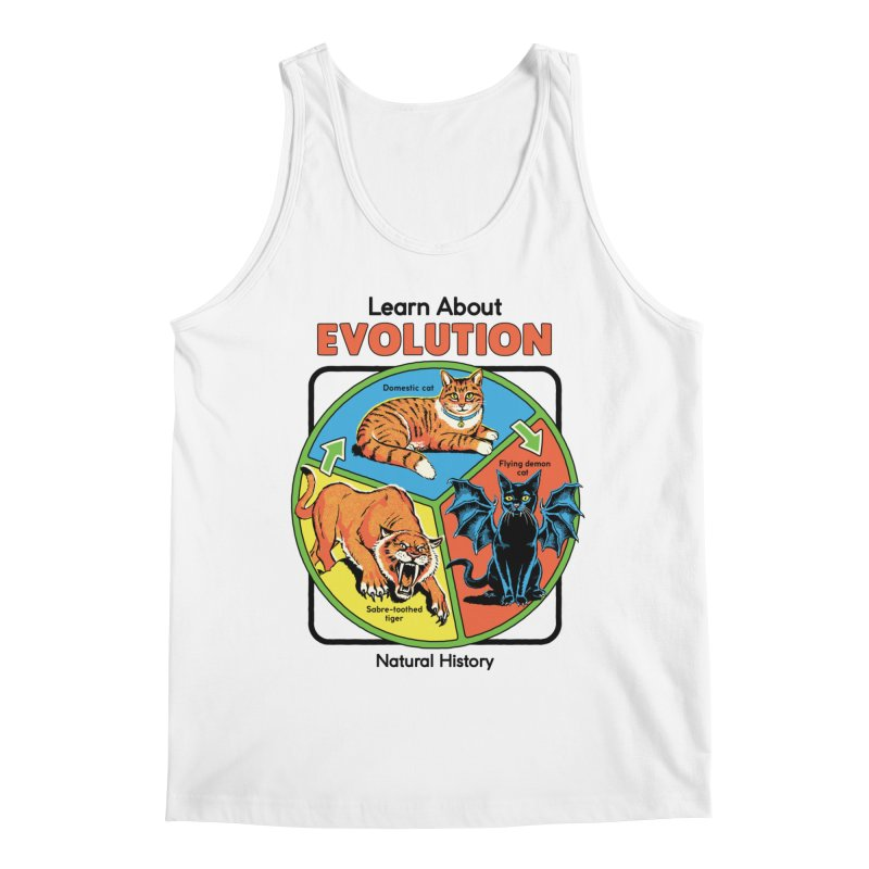 Learn About Evolution Men's Tank by Steven Rhodes