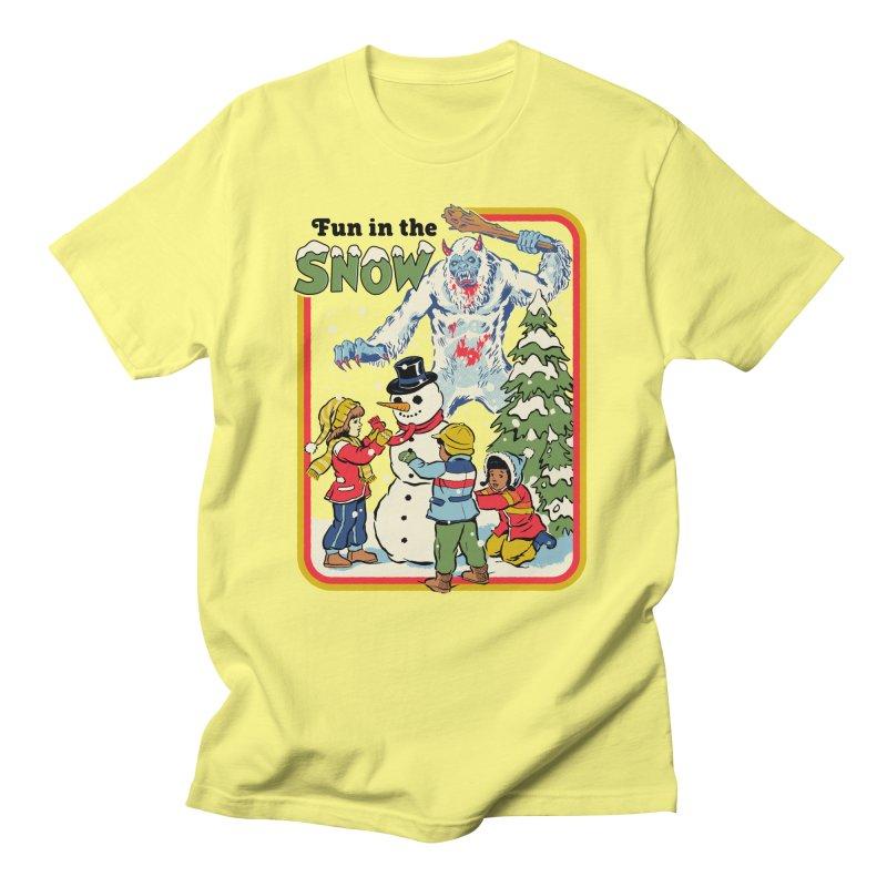 Fun In The Snow Men's T-Shirt by Steven Rhodes