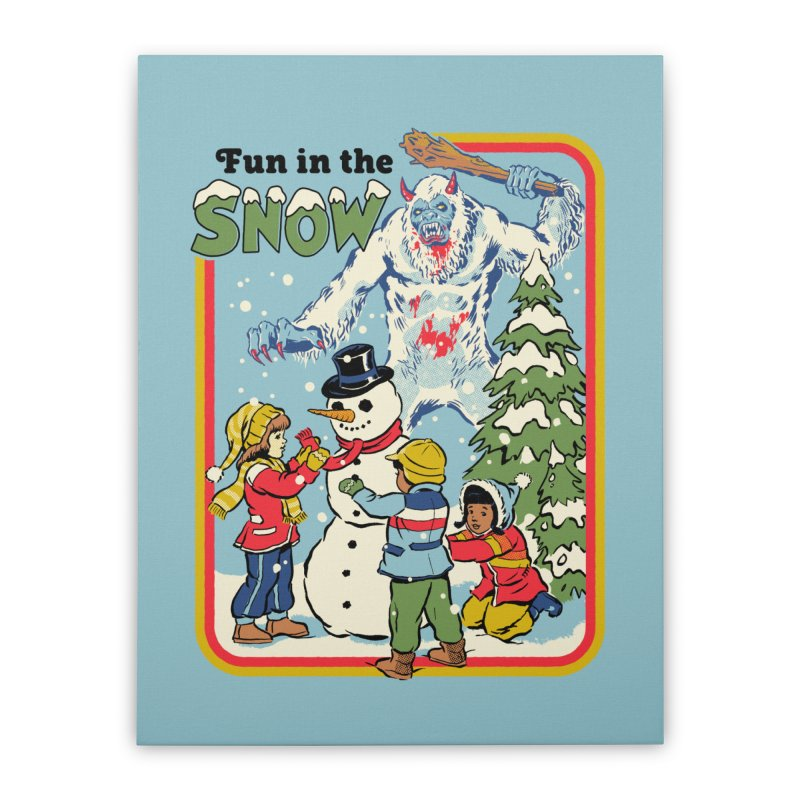 Fun In The Snow Home Stretched Canvas by Steven Rhodes