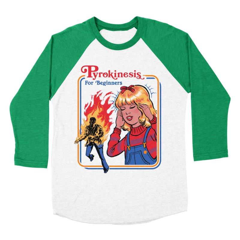 Pyrokinesis For Beginners Women's Baseball Triblend T-Shirt by Steven Rhodes