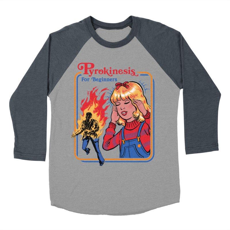 Pyrokinesis For Beginners Men's Baseball Triblend T-Shirt by Steven Rhodes