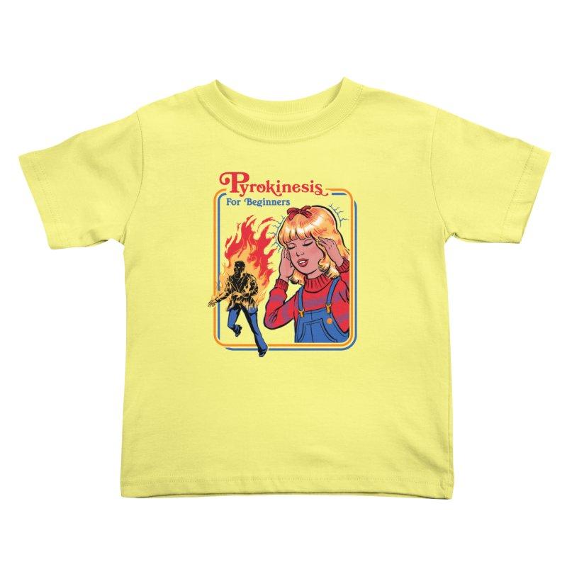 Pyrokinesis For Beginners Kids Toddler T-Shirt by Steven Rhodes