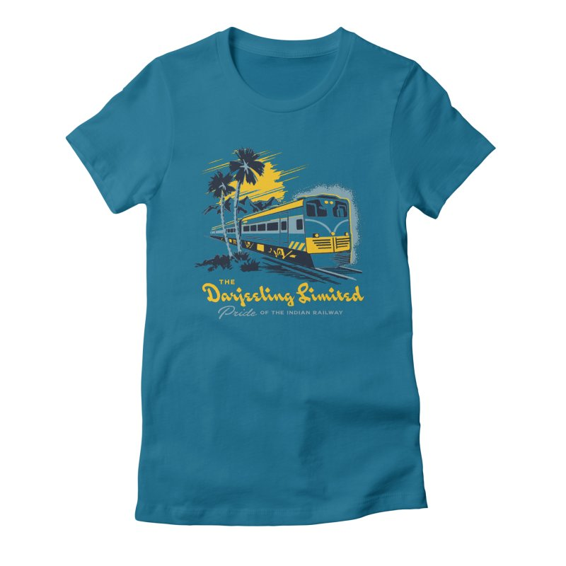 Darjeeling Limited Women's Fitted T-Shirt by Steven Rhodes