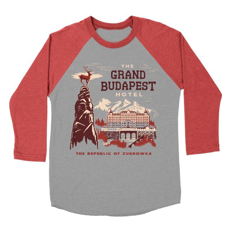 Grand Budapest Hotel Men's Baseball Triblend T-Shirt by Steven Rhodes