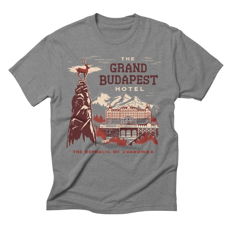 Grand Budapest Hotel Men's Triblend T-shirt by Steven Rhodes