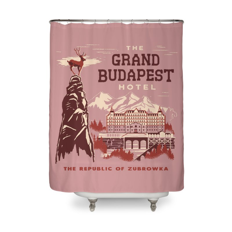 Grand Budapest Hotel Home Shower Curtain by Steven Rhodes