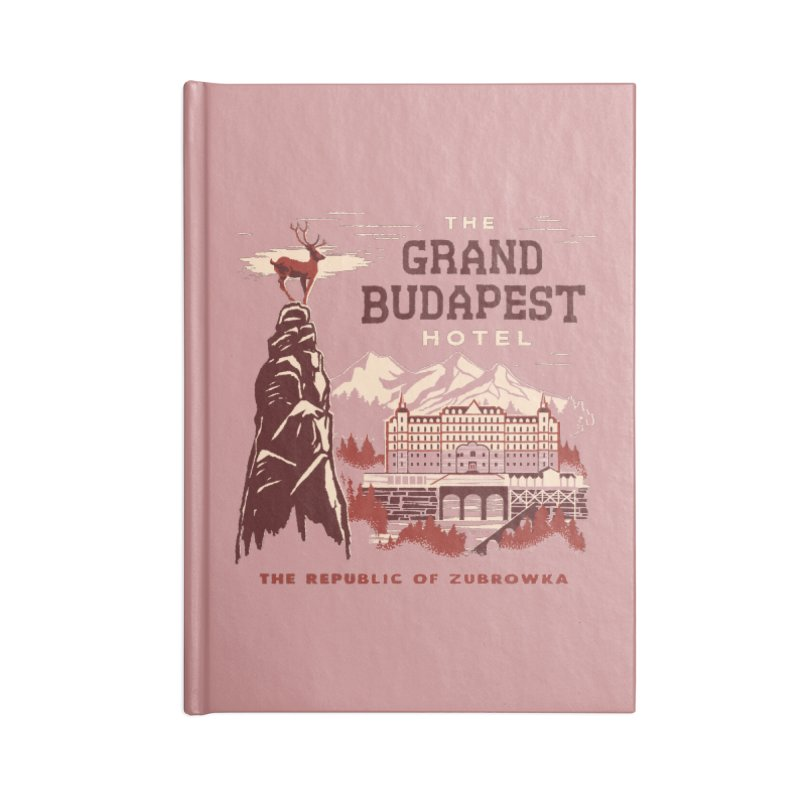 Grand Budapest Hotel Accessories Notebook by Steven Rhodes