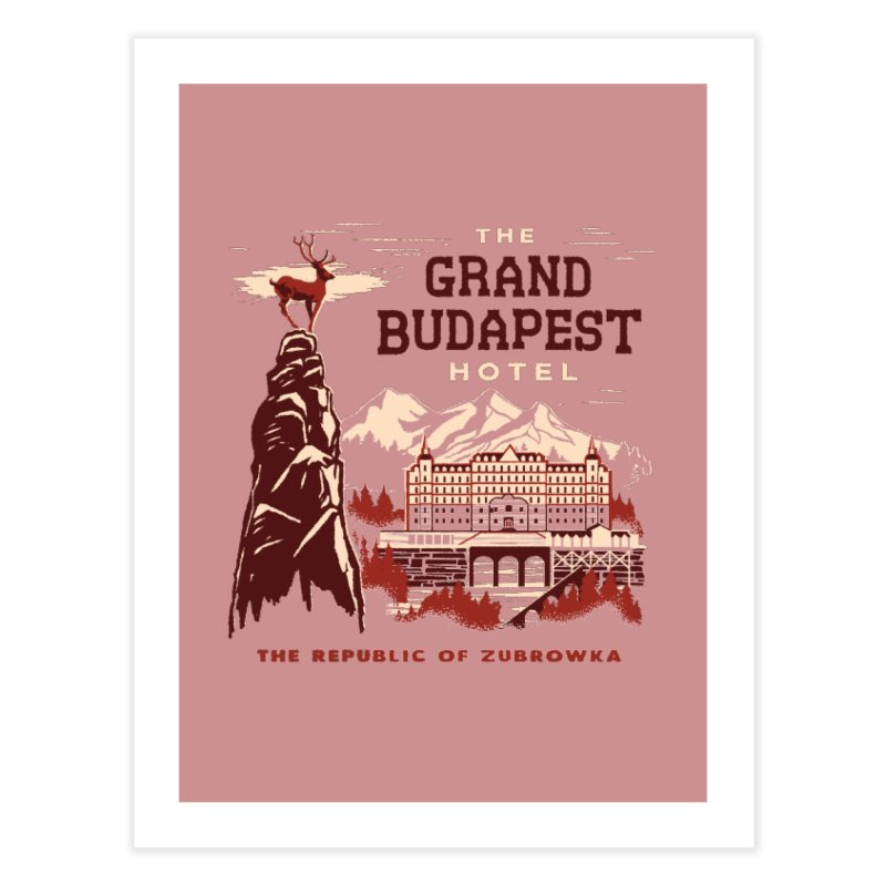 Grand Budapest Hotel Home Fine Art Print by Steven Rhodes