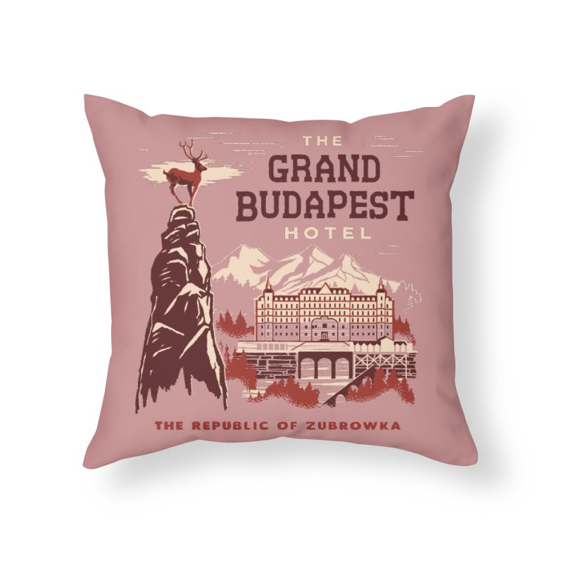 Grand Budapest Hotel Home Throw Pillow by Steven Rhodes
