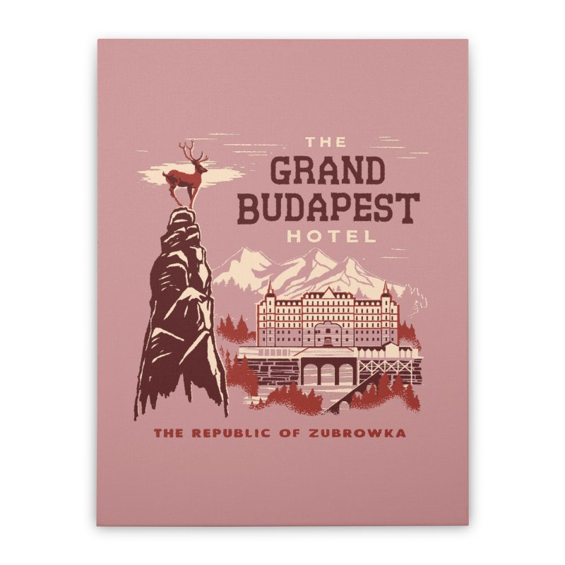 Grand Budapest Hotel Home Stretched Canvas by Steven Rhodes