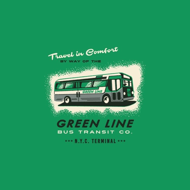 Green Line Bus by Steven Rhodes