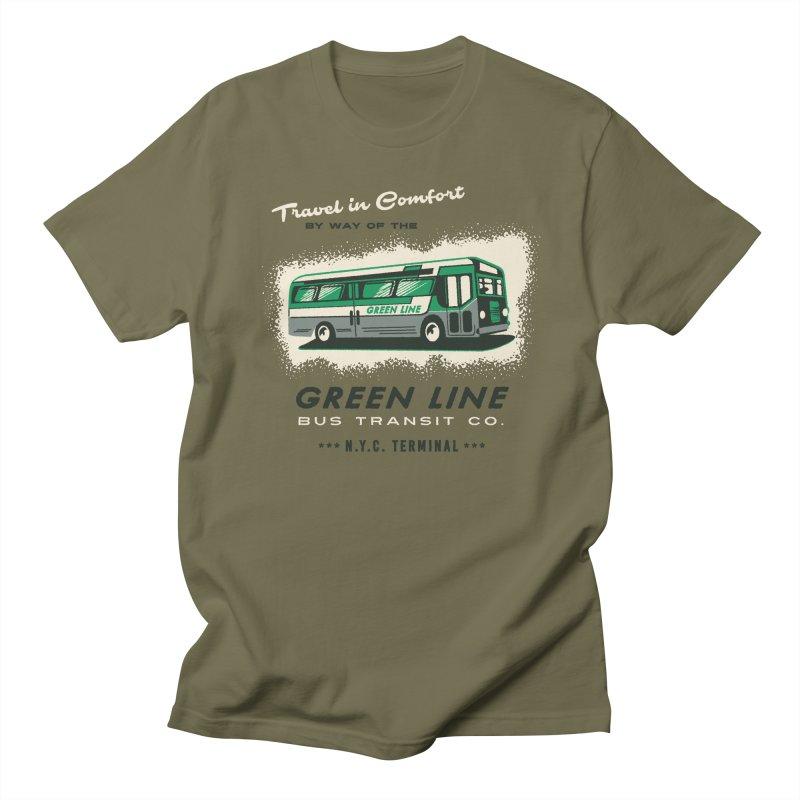 Green Line Bus Women's Unisex T-Shirt by Steven Rhodes