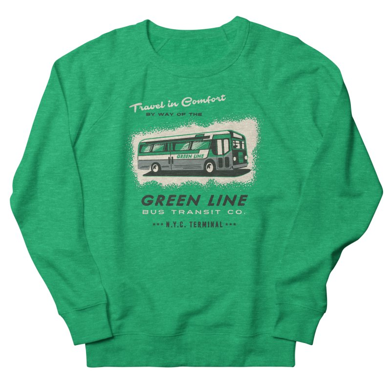 Green Line Bus Men's Sweatshirt by Steven Rhodes