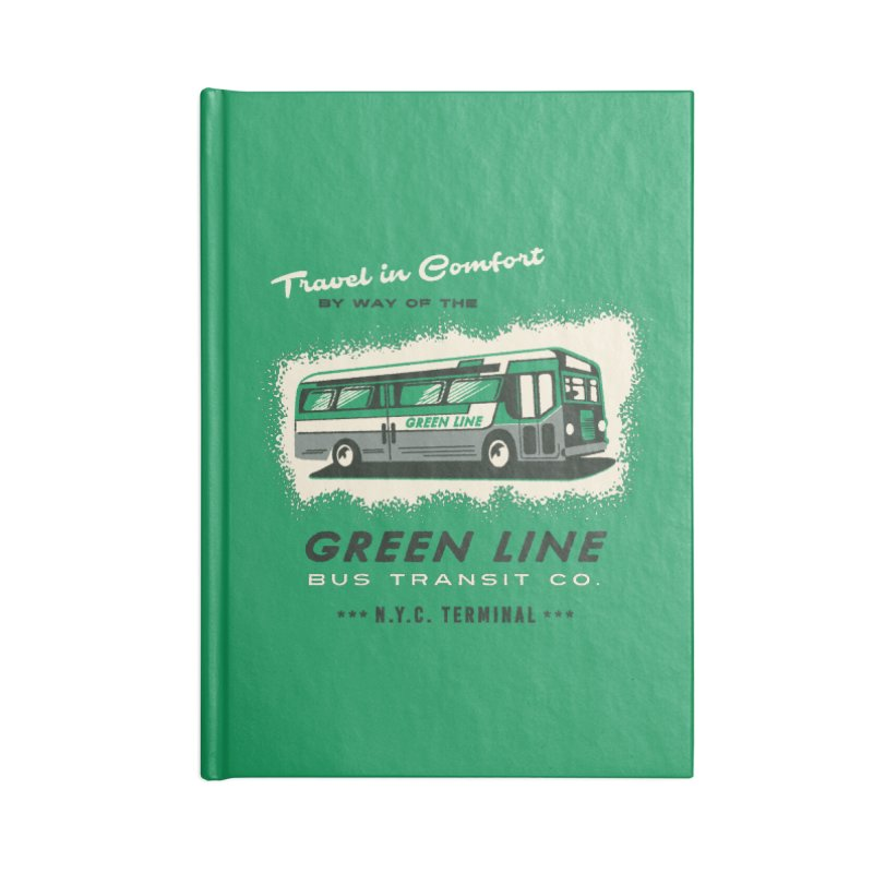 Green Line Bus Accessories Notebook by Steven Rhodes