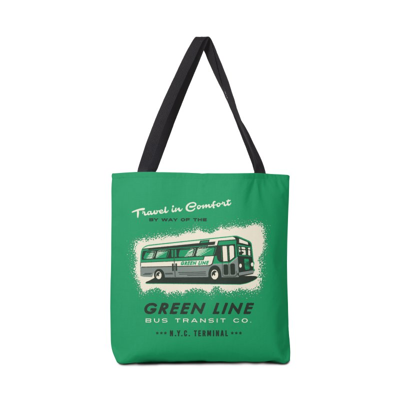 Green Line Bus Accessories Bag by Steven Rhodes