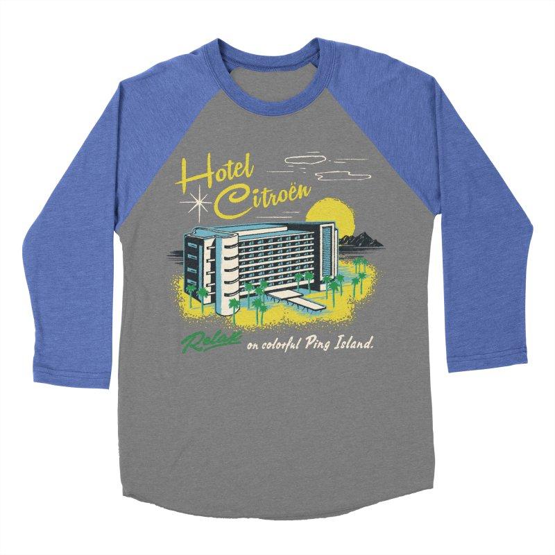Hotel Citroen Women's Baseball Triblend T-Shirt by Steven Rhodes