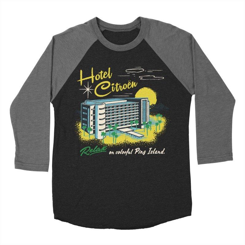 Hotel Citroen Men's Baseball Triblend T-Shirt by Steven Rhodes